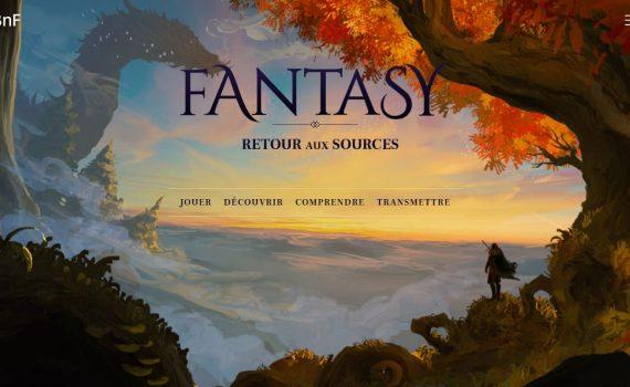capture d'écran de la home du site Fantasy Retour aux sources de la BNF