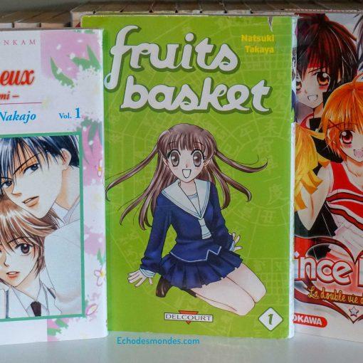 photo des 3 mangas shojo présenté dans l'article